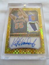 2014-15 Panini Select Bkb AUTO MATERIALS #35 Kiki VanDeWeghe Knicks GOLD #10/10!