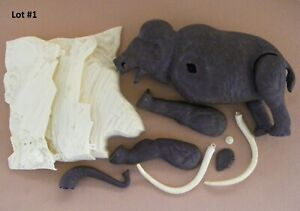 Aurora Prehistoric Scenes Woolly Mammoth Model Kit Incomplete Lot #1