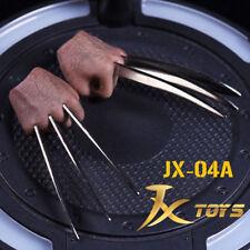 JXtoys JX04A 1/6 Wolverine Logan Metal Bloody Claw Hands Realistic Hair worldbox