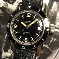 Monval 60s Vintage Fifty Fathoms Styled Divers Watch Automatic Stainless Cool!