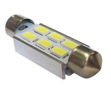 2 LAMPADINE SILURO 36mm 6 LED SMD 5050 LUCI BAULE TARGA PORTA OGGETTI PLAFONIERA