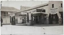 OLD PHOTO SHELL GAS STATION SEE THROUGH  PUMPS BRAKE ELECTRIC REPAIR SIGN 1920S
