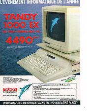 PUBLICITE ADVERTISING 104  1986  TANDY COMPUTERS  ordinateur 1000 EX