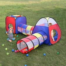 Portable 4 in 1 Childrens Kids Baby Play Tent Tunnel Ball Pit Playhouse Pop Up