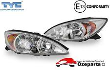 Set Pair of LH+RH Head Light Lamp Chrome For Toyota Camry CV36 s1 2002~2004
