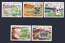 Football Haute Volta (49) série complète 5 timbres oblitérés
