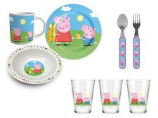 Peppa Wutz Pig Frühsstücks-Set (Teller, Tasse, Löffel, Gabel, Gläser) Geschirr