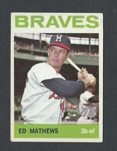1964 TOPPS #35 HOF BRAVES ED MATHEWS- EX+