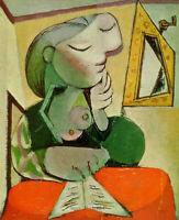 Pablo Picasso Spanish Artist Oil Painting Portrait of Woman Book Vintage 24x30