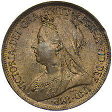 More details for 1901 halfpenny - victoria british bronze coin - very nice