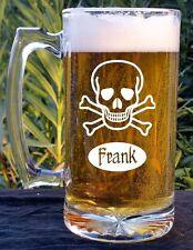 Skull & Crossbones beer mug With Personalized Name