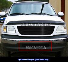Fits 97-98 Ford F-150 2WD Lower Bumper Black Billet Grille Insert