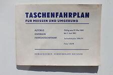20285 Kursbuch Taschen Fahrplan Meissen u. Umgebung Autobus Eisenbahn Elbe 1990