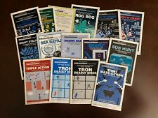Intellivision Manuals for Action Network Games From Mattel Electronics