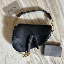 Christian Dior Mini Saddle Bag Grained Calfskin