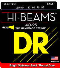 DR LLR-40 HI-BEAM Stainless Steel Bass Guitar Strings, Round Core - Light-Light