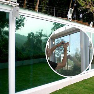 One Way Silver Reflective Mirror Window Film Mirrored Privacy Sticky Glass Tint