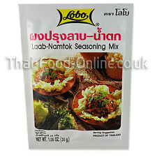 Auténtico tailandés LAAB/LARB Namtok condimento (30g) por Lobo X 5-Reino Unido Vendedor (SE15x5)