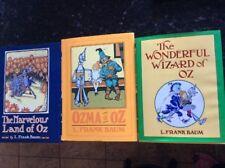 Lot Of 3 Vtg Books & Land Of Oz Wizard Of Oz -Ozma of Oz L Frank Baum Hardcover