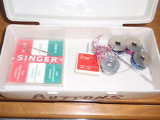 SINGER  sewing machine NEEDLES SIZE 10 and 14  and 4 spools in box