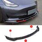 2017-2019 For Tesla Model 3 Carbon fiber Look Front Bumper Lip Body Kit Spoiler