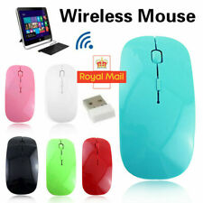 Wireless Cordless Mouse Optical Scroll 2.4GHz For PC Laptop Computer USB Uk Fast