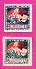LATVIA LETTLAND 40/55 AND 50/70  KOPEKS Sc. 87 B10-11 1920s 105