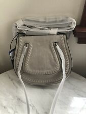 NWT Rebecca Minkoff Small Vanity Saddle Bag Handbag  Crossbody Putty $275
