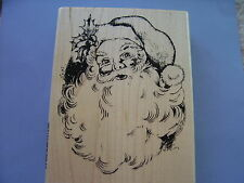 STAMPENDOUS RUBBER STAMPS JOLLY SANTA CHRISTMAS STAMP