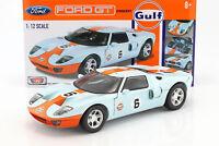 Ford GT Concept #6 Baujahr 2004 gulf blau / orange 1:12 MotorMax