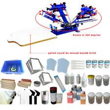 4 Color Silk Screen Printing Simple Press Tools Kit with Printing Materials