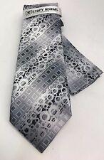 Stacy Adams Men's Tie Hanky Set Black Charcoal Gray 100% Microfiber Hand Made