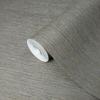 Taupe Brown Gray Faux Grasscloth textures wallpaper Textured modern plain rolls