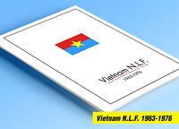 COLOR PRINTED NORTH VIETNAM [N.L.F.] 1963-1976 STAMP ALBUM PAGES (10 ill. pages)