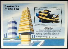 1996 Sierra Leone Fantasies Of Sea Stamps Atlantis Souvenir Sheet Airship