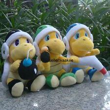 "3Pcs Super Mario Bros Plush Toy Hammer Boomerang Bomb Bros Koopa Stuffed Doll 8"""