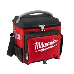 Milwaukee Jobsite Lunch Cooler Soft-Side Storage Compartment Shoulder Strap