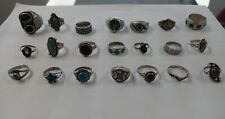 Vintage Native American Southwest Sterling Silver Signed Ring Lot 21 Rings
