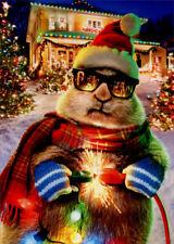 Prairie Dog Christmas Lights Box of 10 Funny Christmas Cards by Avanti Press