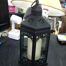 Mainstays Lantern W/ Flamelss LED Pillar Candle Battery No Box