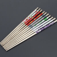 5Pairs Stainless Steel Chopsticks Chop Sticks colorful Gift Set Assorted Home