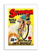 SCHWINN BICYCLE BOOK SPEED RECORD BIKE RACE USA Poster Comics Canvas art Prints