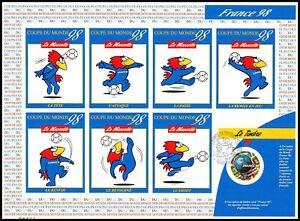 Timbre France Autoadhésifs (3401a) coupe du monde 1998 (1e jour MARSEILLE)