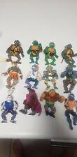 Vintage Teenage Mutant Ninja Turtles Figure Figurine Lot (12 In Total) - 1988/89