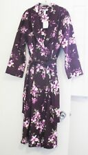 Charter Club Womens Quilted Long Wrap Robe Floral Vineyard Sz M - NWT