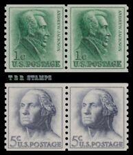 1225-29 1229 Jackson & Washington Regular Pairs 1962-63 Set of 2 MNH - Buy Now