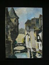 Ancienne peinture huile sur toile,école française,1930-50, Bretagne, Quimper ?