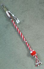 """Motorcycle Biker Whip *Made in UK* 24"""" Red & White Twist GetBack Whip Harley"""