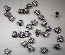 Lot de 10 perles accroche breloques style tibétain 11 mm  pour créations bijoux