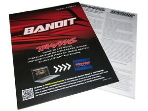 Traxxas 24054-1 BANDIT 2wd XL-5 Quick Start Guide, Parts Book Exploded Views